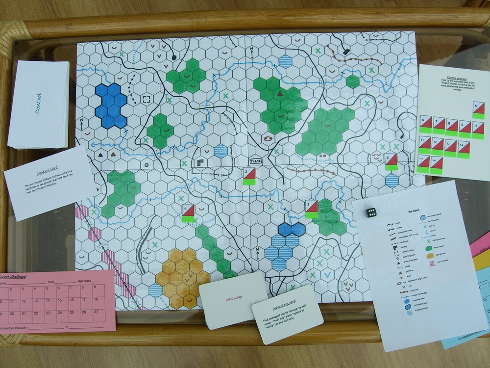 Orienteering board games for Orienteering control card template