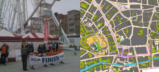 city tour race orienteering